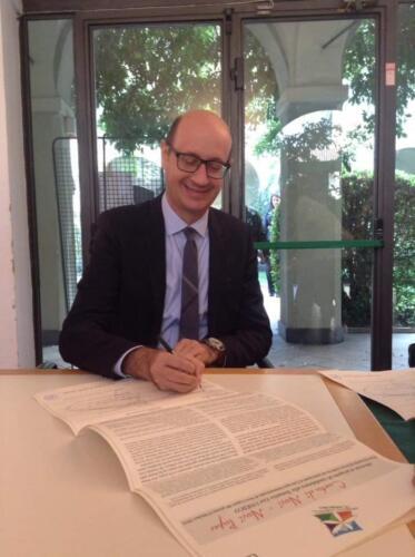Tentativ List Unesco Oltregiogo Oltremare - Firma della Carta di Novi