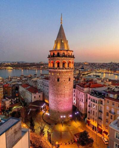 The Galata tower built by the Genoese
